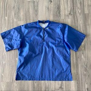 Mizuno Vintage Short Sleeve Blue Windbreaker Shirt